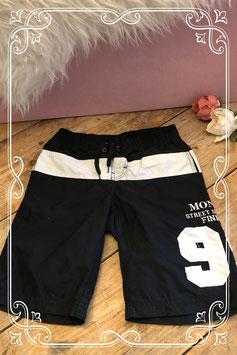 Zwarte broek met witte details van Monta - Maat 128