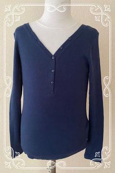 Blauw shirt met knoopjes van Esmara maat S