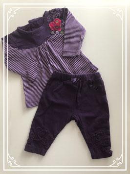 Paarse kleding set - Maat 62