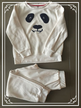 Fleece panda pyjama-maat 122-128