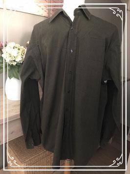 Donkergroene blouse - boordmaat 40