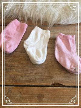 3 paar sokjes - 0-6 maanden