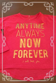 Roze shirtje van name it - maat 98