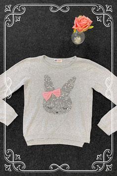 Leuke grijze trui met konijn van H&M maat 134/140
