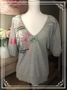 Grijs shirt met opdruk van soho new york-maat XL