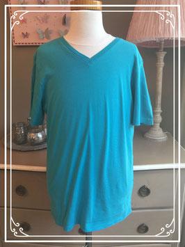 Turquoise T-shirt van H&M - maat 158-164
