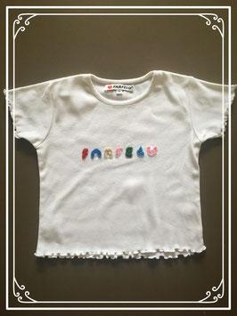 Wit T-shirtje van Farfelu - maat 116