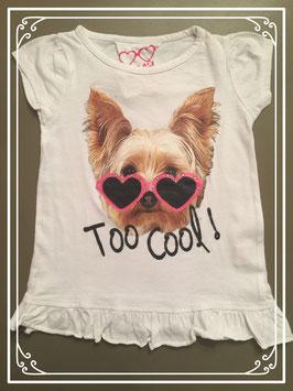 Wit T-shirt van het merk Girl2Girl - maat 98