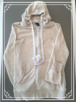 Een beige sweatervest - maat XS