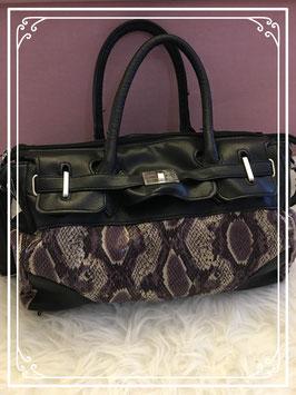 Zwart/bruine Slangen tas
