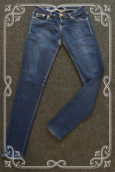 Mooie donkerblauwe stretchbroek van Nina Carter in maat S/36