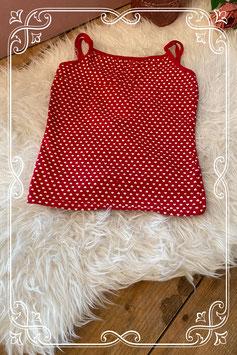 Rood hartjes hemd - Maat 158/164