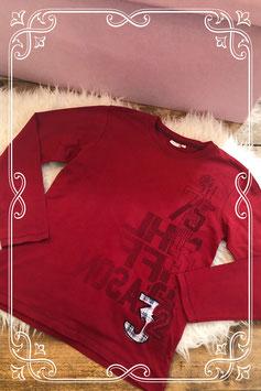 Stoer rood lange mouwen t-shirt Maat 152-158