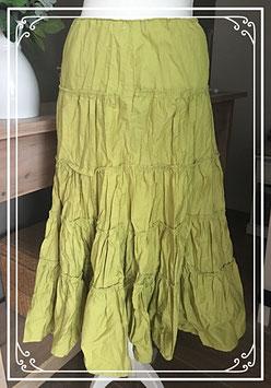 Geplooide groene rok - Maat XL