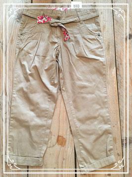 Nieuw: Stoere lichtbruine chino broek - Maat 152