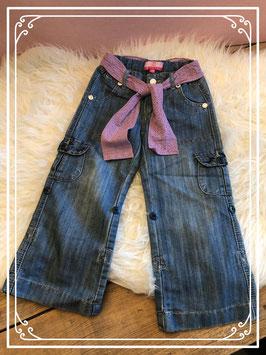 Spijkerbroek met paarse riem van TIK & TAK - Maat 98