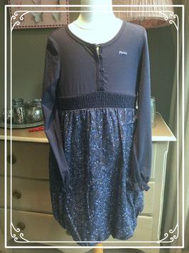 Nieuw: donkerblauw gebloemde jurk van Mexx - maat 152