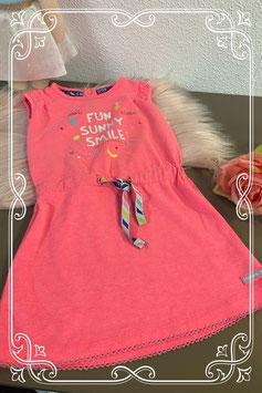 Vrolijk roze zomerjurkje van Little Girls Maat 86