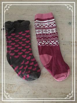 Twee paar sokken met vrolijke prints - 6-12 Maanden