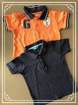 Twee polo shirts - maat 74
