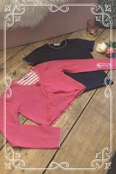 Roze vestje en blauw T-shirt van RM - Maat 140