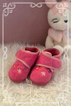 Warme roze meisjes pantoffels - maat 21