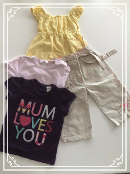 4 delige Mum loves you set - Maat 80