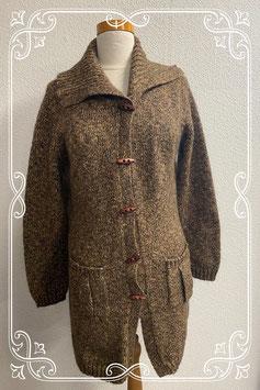 Leuk en warm bruin vest van Yessica maat L