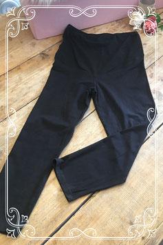 Zwarte zwangerschapslegging/positie legging - maat m