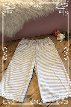 Grijs/wit gestreepte broek van Okaïdi - Maat 122-128