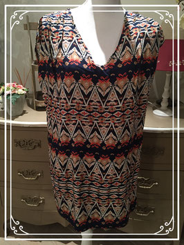 Rijk gekleurde tuniek van Dressy - maat L-XL