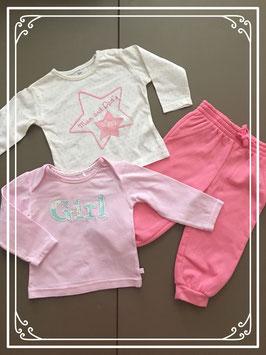3-delig roze kledingsetje - maat 68