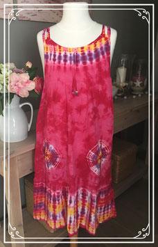 Roze tie-dye jurk - Maat 152-158