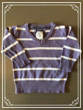 Paars/witte trui van H&M - Maat 74