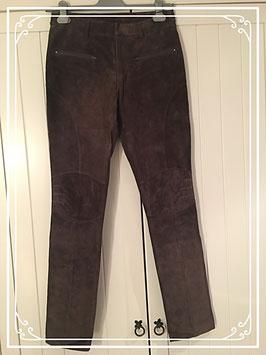 Nieuw: bruin daim (suède) broek van Only-M - maat 36