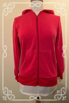 Hippe koraal roze sweater met rits aan de voorzijde Maat 36