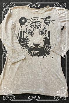 Grijs jurkje met tijger van Soho maat 146/152