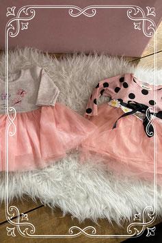 2 prachtige roze jurkjes - maatje 68