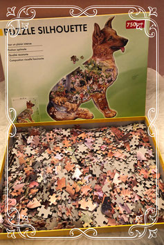 Puzzle Silhouette hond