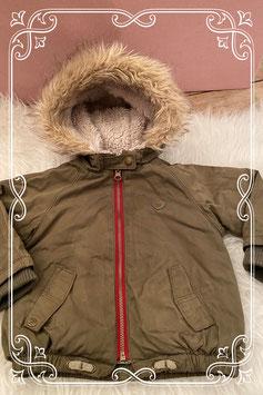 Groen winter jasje van de Zara - Maat 80
