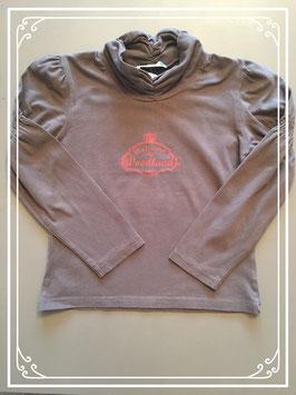Bruin shirtje met kol van Babeurre - maat 122