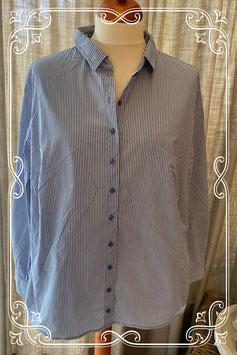Blauw-wit gestreepte blouse van het merk Erfo - maat 54