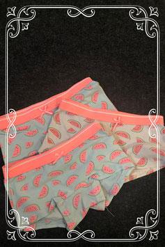 3 boxers met watermeloenen voor meisjes maat 122/128