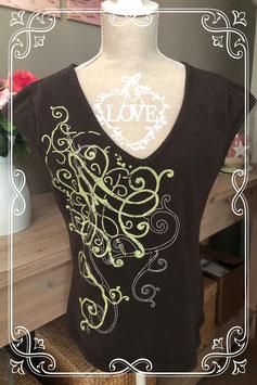 Silver creek shirt bruin met print - maat M