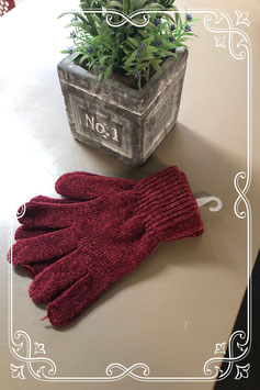 Nieuw! Bordeaux rode zachte dameshandschoenen