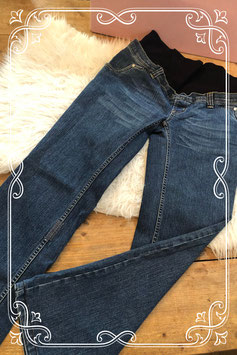 Prachtige zwangerschap spijkerbroek met elastische band van Noppies - Maat M