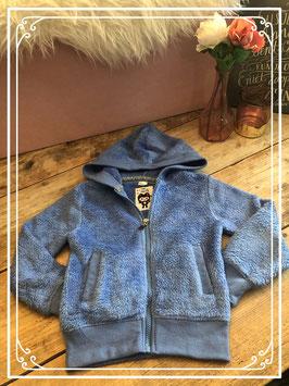 Paars/blauw warm vest van Oh 50 Pretty - Maat 98/104