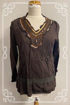 Nieuw! Sierlijk shirt met lange mouwen en kralen van M&S Mode maat 36