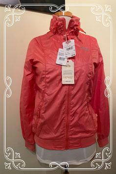 Nieuw: Mooi hippe meisjes jas in oranje roze van Cars Maat 176.