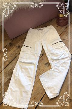 Witte lange broek van Persival - Maat 128